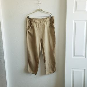 3/$15 Soft Surrounding Linen/Rayon  Relaxed Pants